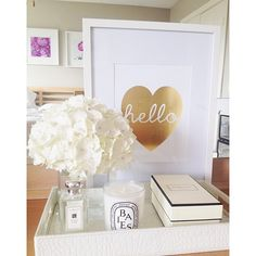 Gold Foil Heart Print via SS Print Shop