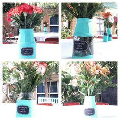 Floreros centros de mesa