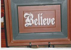 Painted Wooden BELIEVE Picture in Homeplaces Garage Sale in Lake View , IA for $25. div style=text-align: center;span style=font-size: 23px; font-family: Comic Sans MS;This is a painted, completely woodenbrpicture. Has a wire hanger.brFirst 25.00 takes it!/span