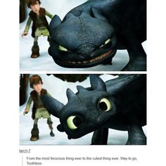 I know this is a Dreamworks movie but I don't wanna make a Dreamworks folder or whatever so excuse me, but I'm gonna be putting Pixar and Dreamworks into my Disney folder :D Disney Pixar, Film Disney, Disney And Dreamworks, Astrid Hiccup, Hiccup And Toothless, Cute Toothless, Toothless Dragon, How To Train Dragon, How To Train Your