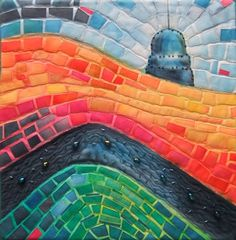 Debra Wirsu - Moroccan Spice at Latitude Quilts:  mosaic design, beadwork