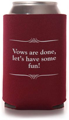 Wedding Quotes Wedding Can Coolers #wedding #koozies