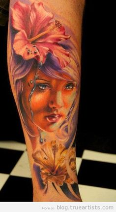 Tattoo by Florian Karg at Vicious Circle Tattoo in Bayern, Germany Hair Tattoos, Flower Tattoos, Tatoos, Great Tattoos, Beautiful Tattoos, Beautiful Artwork, Tattoo Images, Tattoo Photos, Portrait Tattoos