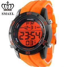 Fashion Casual Watches Men Orange LED Digital Watches Sports Alloy Clock Male Automatic Date Watch Army Men's Wristwatch WS1145 Isn`t it awesome? #shop #beauty #Woman's fashion #Products #Watch
