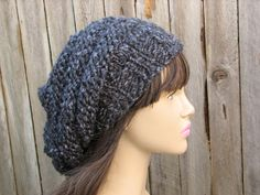 Knit Hat Pattern Knitting Pattern Slouchy Beret by EvasStudio