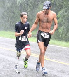 A Young Runner's Inspiring Story Touches Many.  Ben Baltz, 12, lost a leg to cancer, but that didn't stop him.
