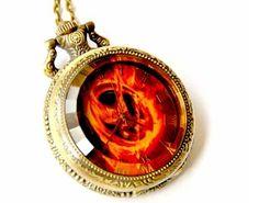 The Hunger Games Inpspired Pocket Watch Locket Necklace