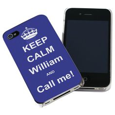 Personalised Blue Keep Calm iPhone Case  from Personalised Gifts Shop - ONLY £14.99