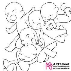 【公式】トレスde描こう!-第3弾-/Trace&Draw【Official】 no.3 - ART street | Illustrations - ART street by MediBang Anime Drawings Sketches, Cute Drawings, Chibi Sketch, Drawing Templates, Drawings Of Friends, Poses References, Drawing Expressions, Anime Chibi, Chibi Cat