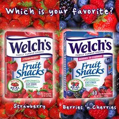 Are you a sucker for Strawberry or for Berries 'n Cherries? The choice is yours...