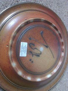 Studio pottery toff milway charger - signed and label
