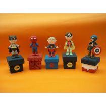 Super Heroes De Pasta Flexible O Porcelana Fria