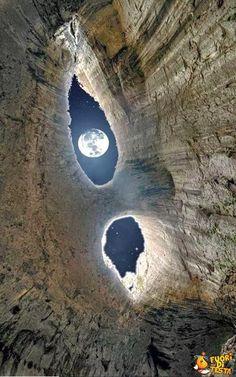 Una luna spettacolare