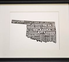 An OK print for both our cities!  Love the idea of the OKC in red.