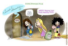 Ariel!!! Magical hair needs washing too