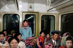 Subway. North Korea, 1982.  Photo by Hiroji Kubota
