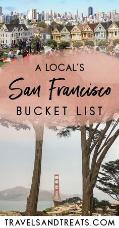 San Francisco Bucket List: 100 Things to Do in San Francisco The best things to do in San Francisco. 100 Things to do, see, and eat in San Francisco, California—all recommended by a local! Usa Travel Guide, Travel Usa, Travel 2017, Travel Europe, Time Travel, Cool Places To Visit, Places To Travel, Travel Destinations, Visiter San Francisco