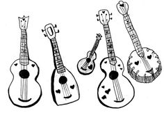 450 Best Guitar Art, Ukulele Art and so much more images