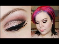 Romantic Cut Crease With Glitter!  She is one of my FAV. to watch on Youtube! I love all of the different and fun looks she does... not just the everyday stuff... She also has awesome and informative reviews of tons of different products. If you love fun makeup you MUST check her channel out!