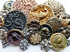 Steel Cut buttons from the victorian age