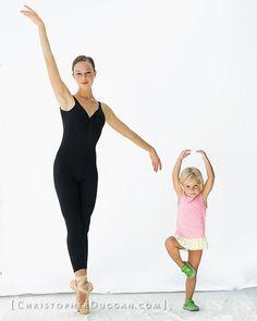 Mahallia Ward of Joffrey Ballet with Gracie in Christopher Duggan's Natural Light Studio at Jacob's Pillow Dance Festival