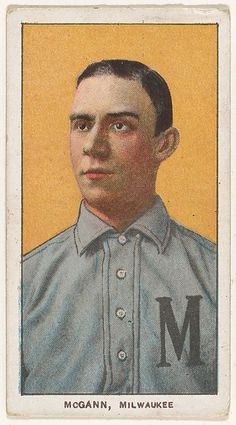 McGann, Milwaukee, American Association, from the White Border series (T206) for the American Tobacco Company