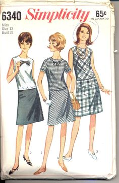 1960s fashion dress patterns