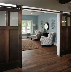 Room divider alternatives! Use Barn Doors! [ Barndoorhardware.com ] #barndoor #hardware #slidingdoor