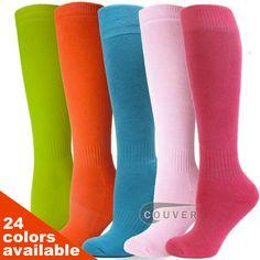 COUVER Youth Sports/Softball/Baseball Knee High Socks 3PAIRs