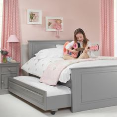 Girls Archie High Foot End Bed. Great for sleepovers