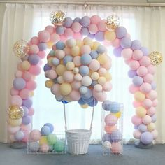 Macaron Candy Colored Latex Balloon for Birthday Party Decoration Baby Shower Supplies Wedding Ceremony Balloon Arch Balloon Tower Macaron Candy Colored Latex Balloon for Birthday Party Decoration Baby Shower Supplies Weddin Décoration Baby Shower, Baby Shower Vintage, Baby Shower Balloons, Girl Shower, Shower Party, Baby Shower Parties, Kid Parties, Wedding Balloon Decorations, Wedding Balloons