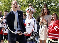 Canada Day 6:  #katemiddleton tries some street hockey