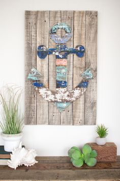 Wooden Anchor Wall Art