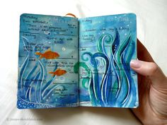 Journal pages from this past week. And a sneak peak at next week: One reason I love journaling in these tiny books is because I can play and experiment with different s Journal D'art, Artist Journal, Wreck This Journal, Creative Journal, Art Journal Pages, Art Journaling, Journal Ideas, Bullet Journal, Sea Art