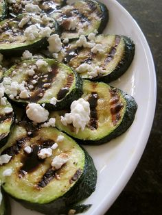 Grilled Zucchini and Balsamic vinaigrette!