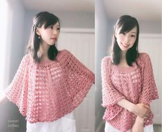 Rose Finch Capelet, a Vintage Lace Poncho (Free Crochet Pattern) - Sweet Softies Crochet Baby Dress Pattern, Crochet Poncho Patterns, Crochet Shawl, Crochet Cardigan, Crochet Scarfs, Knit Scarves, Shawl Patterns, Cardigan Pattern, Crochet Clothes