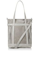 Suede and Leather Strappy Tote
