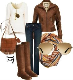 Alaskan Cruise Wardrobe:  Cute winter outfit love this! I want a brown leather jacket!