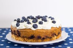 Blueberry Cake of Sweet Recipes, Cake Recipes, Blueberry Cake, No Sugar Foods, Cheesecake, Cooking Recipes, Ice Cream, Treats, Ethnic Recipes