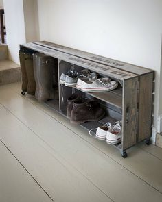 Wooden Vintage Style Shoe Storage Crate   Unique Furniture from Great British Living