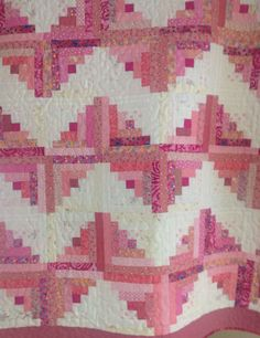 Old and New Log Cabin Quilt in Zig Zag design by MarthaDanielsonSews on Etsy