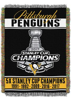 Pittsburgh Penguins 2017 Stanley Cup Champions Tapestry Blanket
