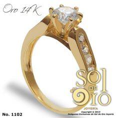 Anillo de compromiso en oro 14k RD$8,000