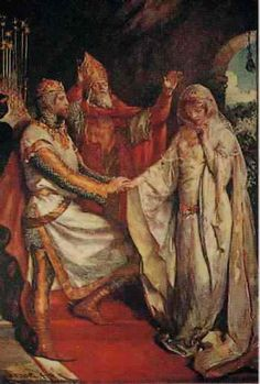 King Arthur and Guinevere Painting | JOHN H BACON's The Marriage ofArthur and Guinevere