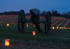 Antietam Battlefield - Each light from a luminaria represents a soldier who died here.