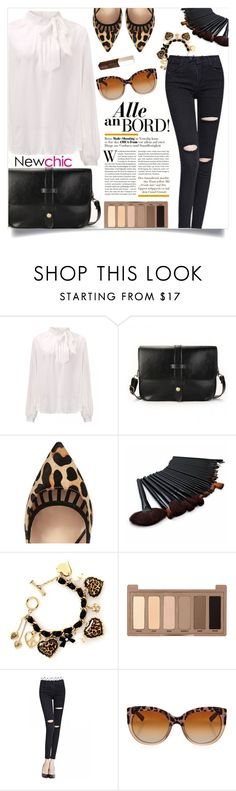 """""""Leopard details _ new chic"""" by by-jwp ❤ liked on Polyvore featuring River Island, Betsey Johnson, Urban Decay, Dolce&Gabbana, Jouer and newchic"""