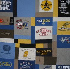 Not your ordinary tshirt quilt.  Every quilt is one of a kind!  Check out www.susanstimelessquilts.com for more pics.