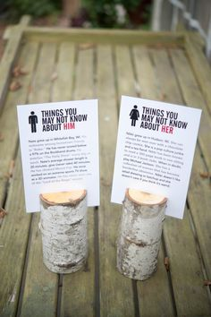 Cute way to keep guests busy while waiting for food and to create small talk at wedding