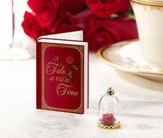 Fairytale Signing Cards and Enchanted Rose Dome Favors (Set of Fairy Tale Story Book, Fairy Tales, Sweet 16, 25 Anniversary Cake, Rose Dome, Lillian Rose, Wedding Shoppe, Enchanted Rose, Wedding Entertainment