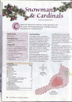 Snowman & Cardinals 2/4